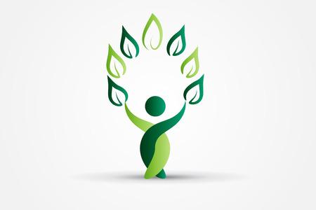 Tree health nature people vector image design