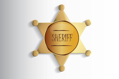 Sheriff Star Badge Vector Design