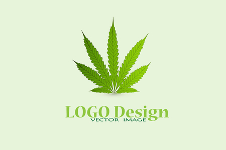 Marijuana cannabis leafs icon logo vector image design