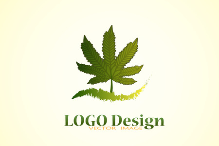Marijuana cannabis leafs icon logo vector image design