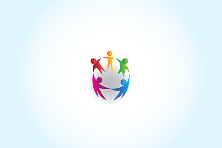 teamwork unity business people holding hands vector design