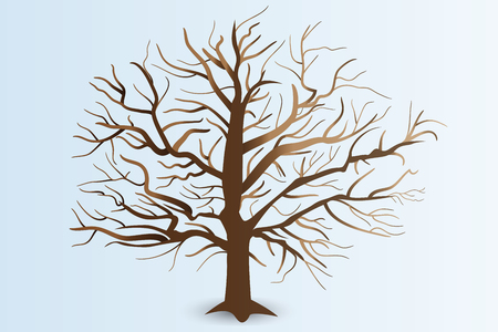 Tree with stiylized branches   vector design
