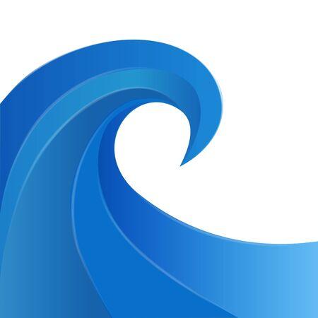 blue ocean swirl beach waves symbol icon illustration vector image design