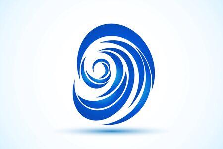 blue beach waves symbol icon illustration vector image design