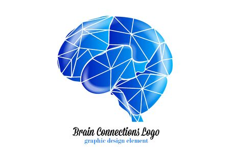 Brain connections id card vector image