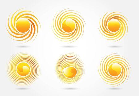 Set of sun vector image design