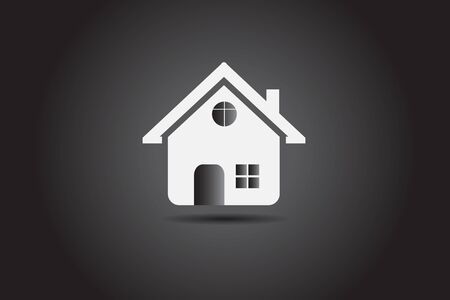 Real estate house company card icon vector image