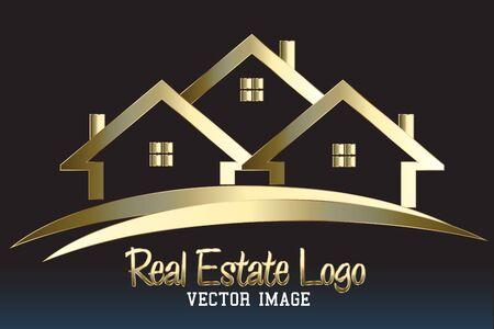 Real estate house Ilustração