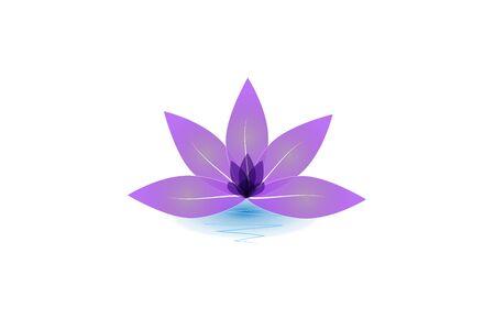 Lotus flower yoga vector image design template
