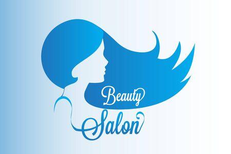 Beauty woman salon cosmetic business card design