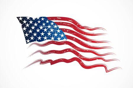 American flag USA vector image design