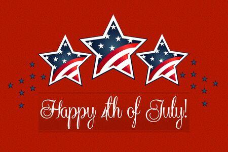 Happy 4th of July background card vector Illusztráció