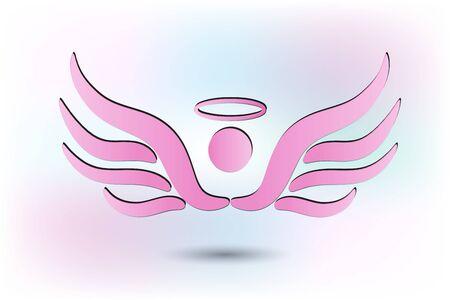 Roze engel vector afbeelding
