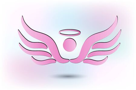 Pink Angel vector image