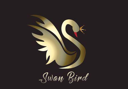 Gold Swan Vector Image Stock Illustratie