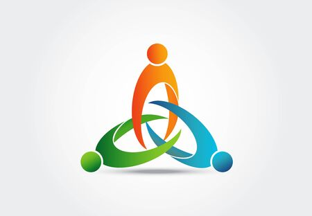 teamwork unity people vector image design Illustration
