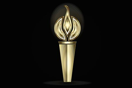 Gold torch vector image design web template