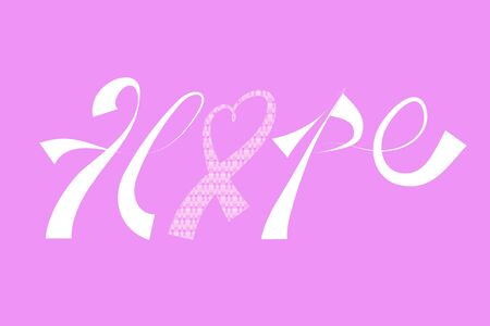 Breast cancer awareness ribbon hope symbol vector image