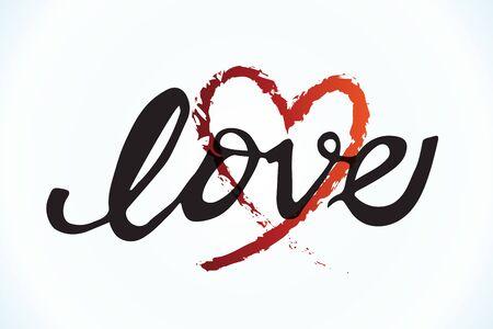 Love heart valentines grunge vector image design Illusztráció