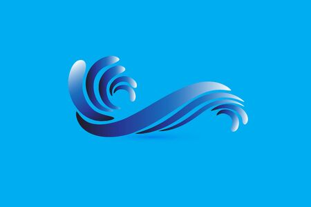 Vector blue waves beach image design Standard-Bild - 129485292
