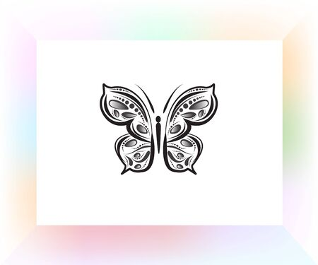 Butterfly mandala art vector image design template
