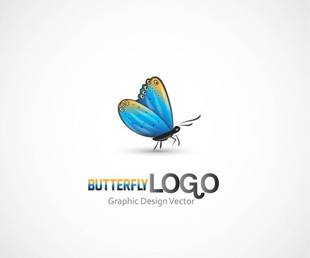Butterfly artwork of a small blue insect vector image
