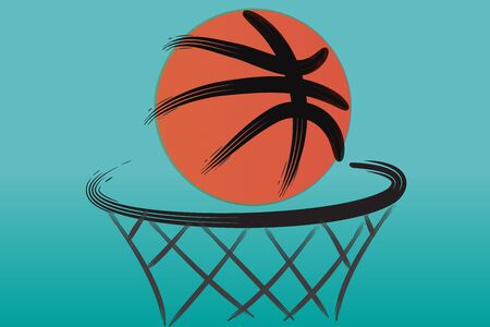 basketball hoop vector image design web template background