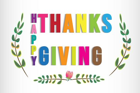 Happy Thanksgiving greetings card web image vector design template