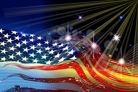 Independence day happy fourth july beautiful background vector image design template