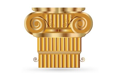 Columns Ancient Greek Historic Bank Dorian Corinthian Capitol Style Logo Vector