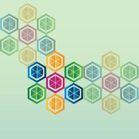 Vector abstract science molecular image design background template Ilustração