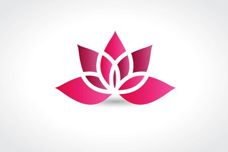 Pink lotus flower vector image app web design template Illustration