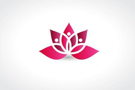 Pink lotus flower vector image app web design template Illustration