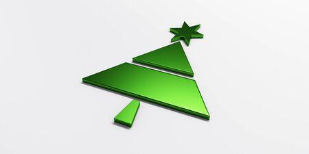 Christmas tree greetings card green image