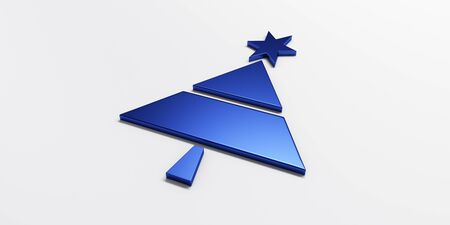 Christmas tree greetings card graphic blue image