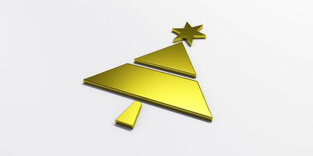 Christmas tree greetings card graphic gold image
