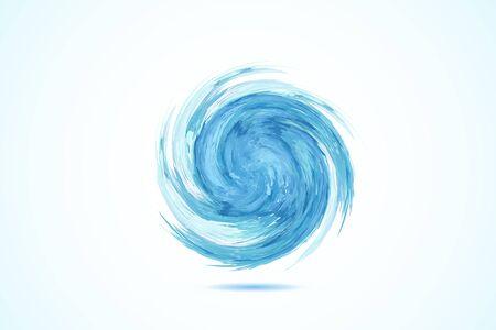Logo blue beach waves symbol icon illustration vector image design Illustration