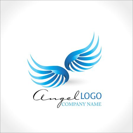 Angel wings blue vector image design