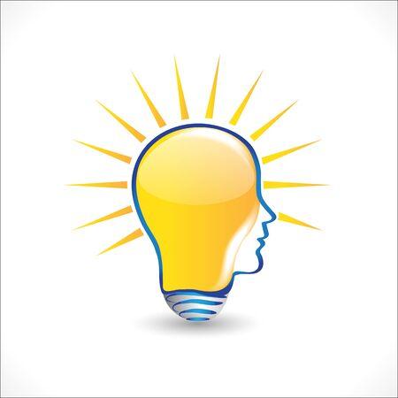 Logo bulb light ideas people head icon vector graphic design Foto de archivo - 133807347