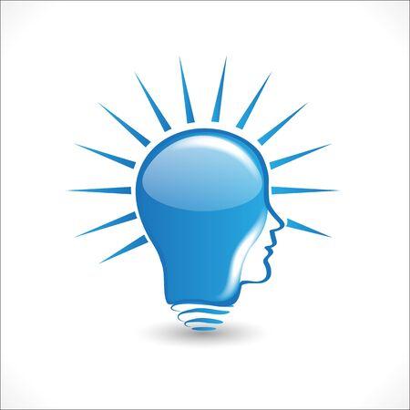 Logo bulb light ideas people head icon vector graphic design Foto de archivo - 133807348
