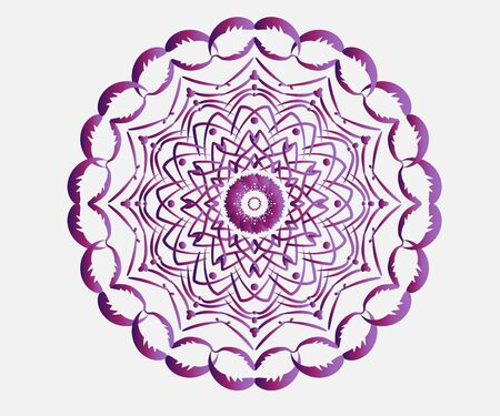 Mandala lotus flower indian ornament abstract tattoo graphic logo design vector icon web image template 向量圖像