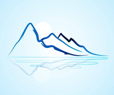 Logo mountains icon logotype vector identity business id card graphic design logotype template 일러스트