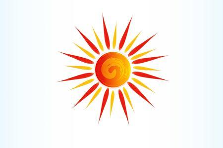 Sun swirl icona di scorrimento logo web immagine grafica vettoriale illustrazione