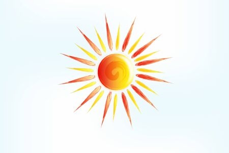 Sun swirl scroll icon logo web image vector graphic illustration