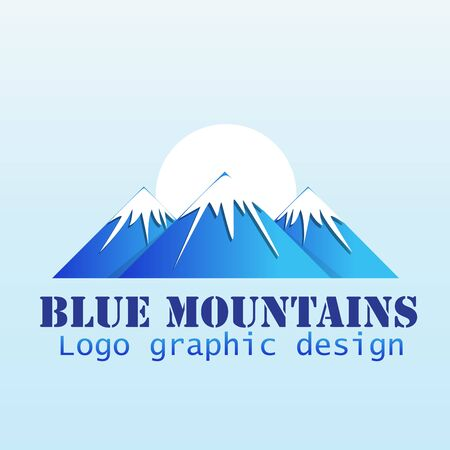Logo mountains icon logotype vector identity business id card graphic design logotype template Ilustrace