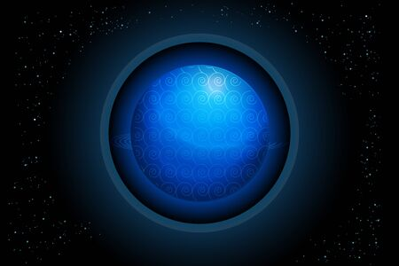 Globe blue earth planet icon vector web image background template