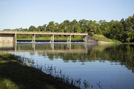Blanchard park bridge water river Park Orlando Florida USA