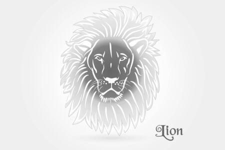 Lion tattoo stylized icon logo vector web clip art image design 矢量图像