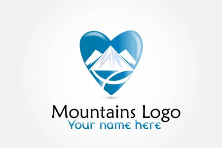 Logo mountains icon logotype vector identity business id card graphic design logotype template Illustration