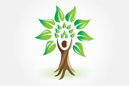 Logo tree people ecology element for your own design icon vector logotype symbol image template Logo